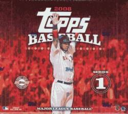 2008 Topps Baseball Series 1 Box (10 Packs)