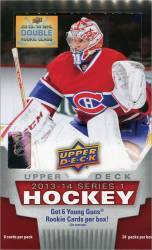 2013-14 Upper Deck Series 1 Hockey Box (24 Packs)